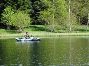 peche à la mouche en barque dérivante poton jmc