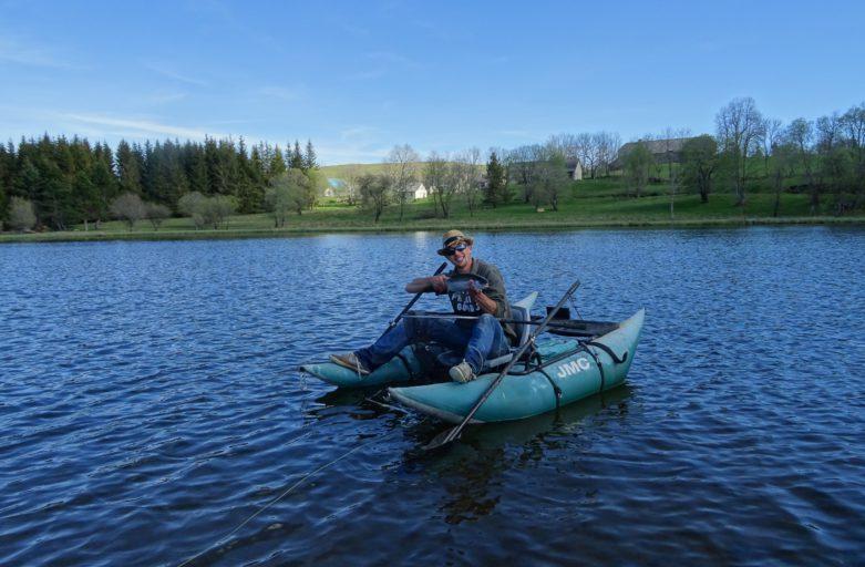 Stage réservoir et rivière en Auvergne, guide de pêche à la mouche franck coudière