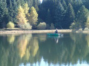 Stage réservoir et rivière en Auvergne, guide de pêche à la mouche